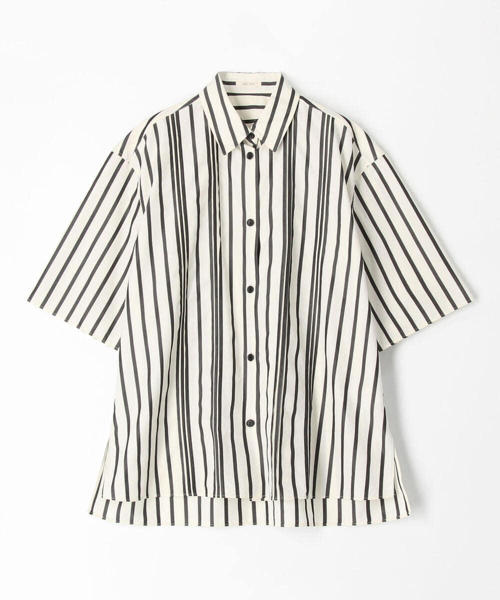 ギザコットンブロードストライプ オーバーサイズドシャツ