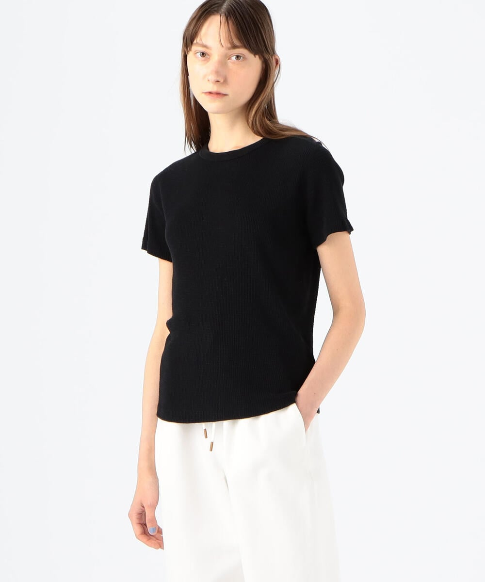 Re/Done 70S LOOSE THERMAL コットン ワッフルカットソー