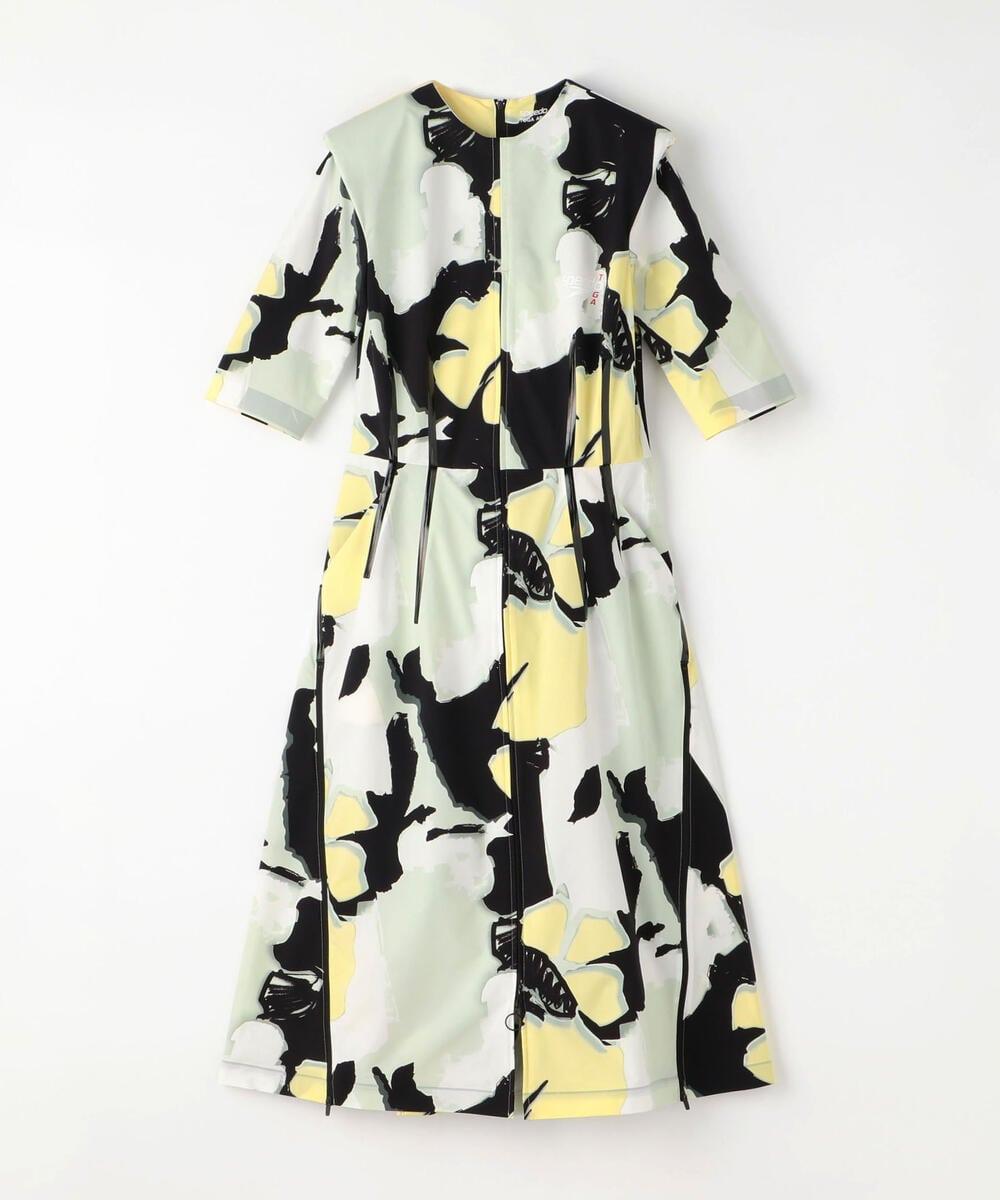TOGA × SPEEDO ポリエステル ジップドレス