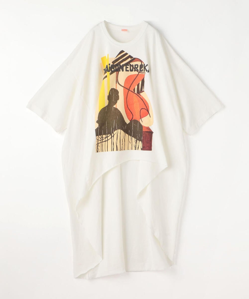 MAISON EUREKA HANDPAPER COLLAGE コットンレーヨン ビッグTシャツ