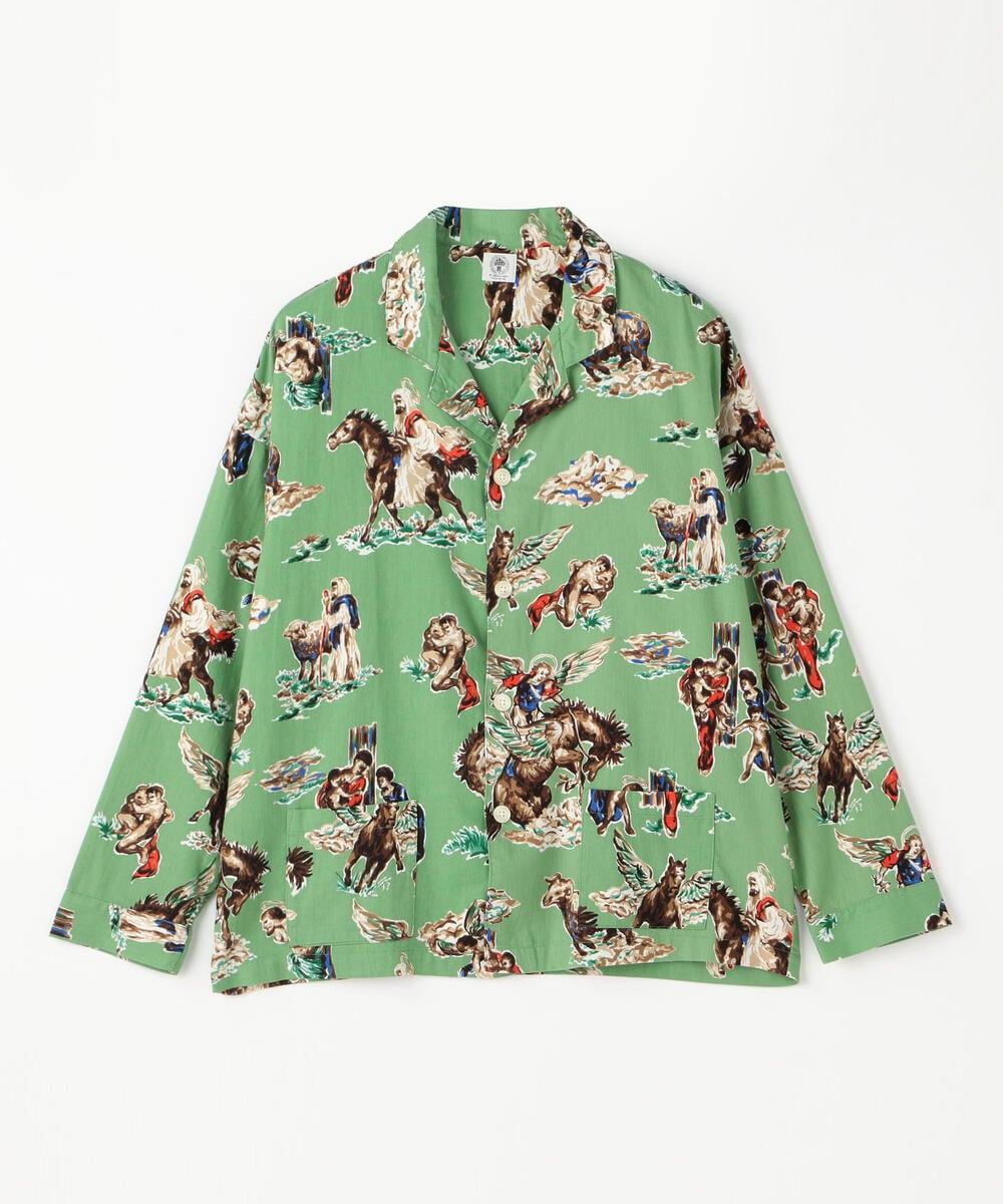 SAINT Mxxxxxx コットンシルク オープンカラーシャツ