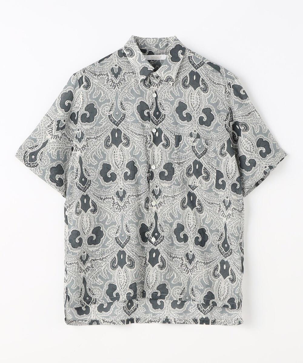 インドコットン ショートスリーブシャツ